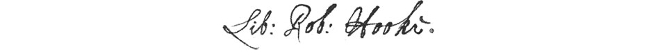 Robert Hooke's Books